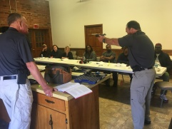 PST Instructor Tony demonstrating marksmanship fundamentals