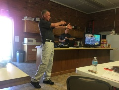 PST Instructor Jeff teaching the class the proper way to aim