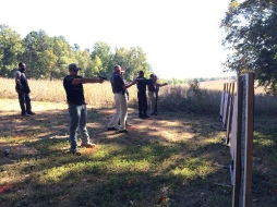 Practicing on the range
